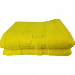 Uterák bavlnený 50x90 cm žltý