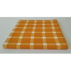 Podsedák kockovaný oranžový