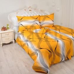 Krepové obliečky vlny oranžové