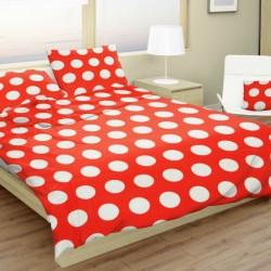 Bavlnené obliečky Dots červené