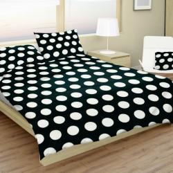 Bavlnené obliečky Dots čierne