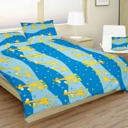 Detské obliečky žirafy modré