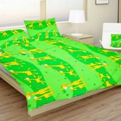 Detské obliečky žirafy zelené